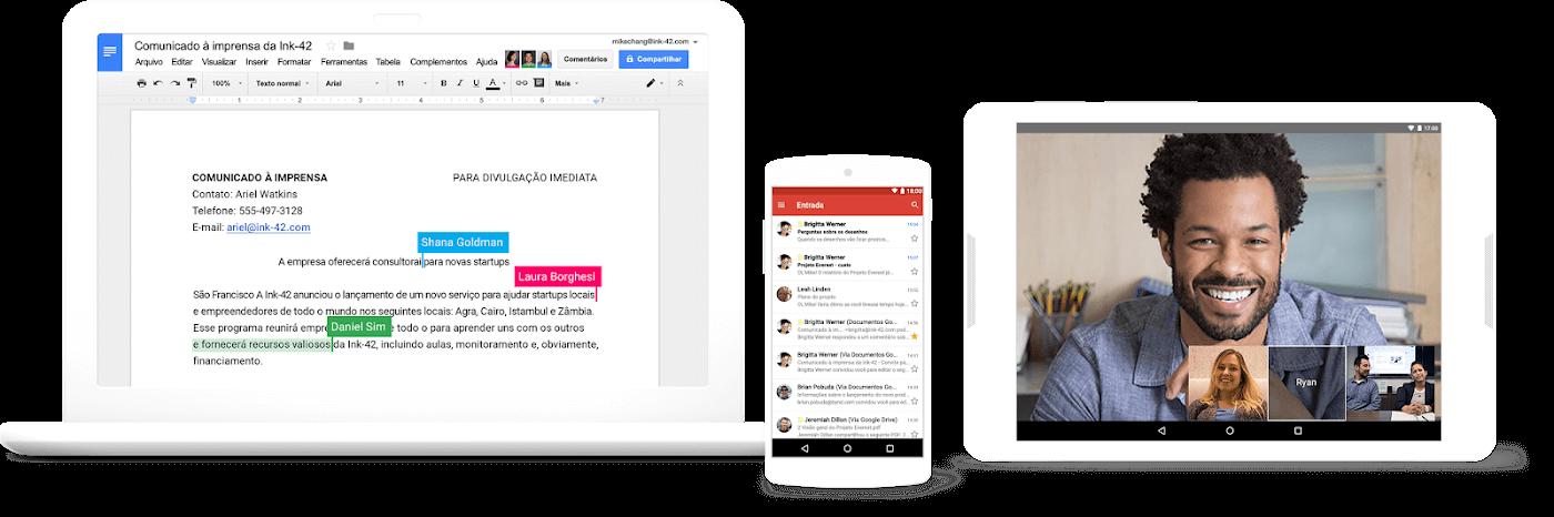 Aproveite todas as funcionalidades do Google G Suite