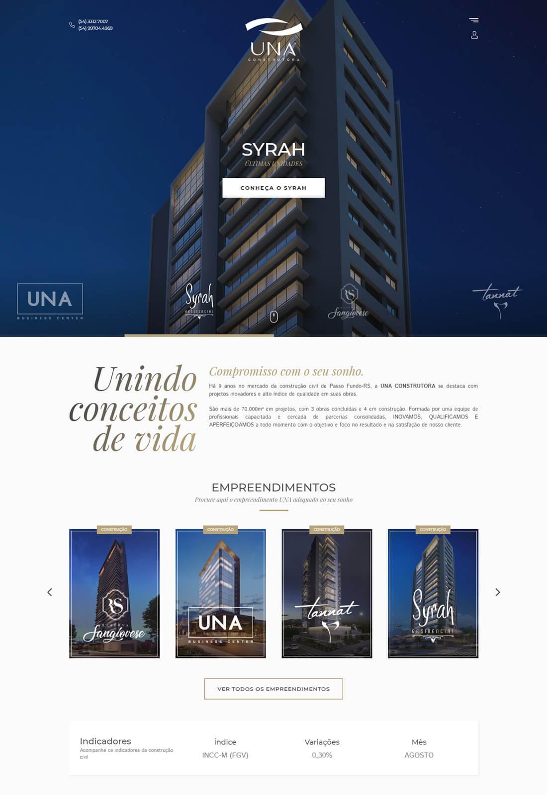 Website Una Construtora