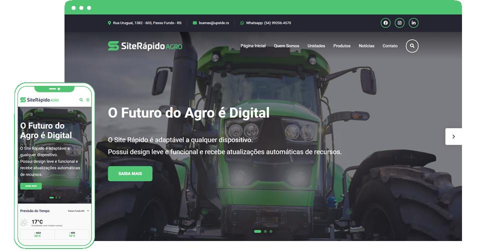 Site Rápido Agro - Responsivo e Mobile